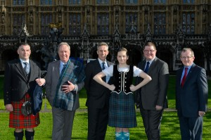 Ian Paisley hosted exhibitors, musicians and dancers at the Ulster Scots event in Parliament this week which also saw the launch of the Giants Causeway Tartan