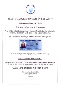 Ballymena Electoral Registration Event