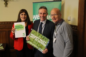 Ian Paisley MP at the Macmillan Cancer Awareness Raising Event this week
